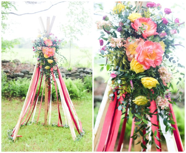 Boho Chic Flower Ribbon Tent