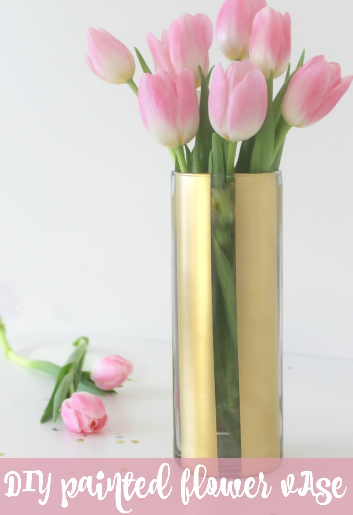 diy-painted-flower-vase