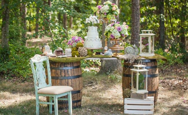 Enchanted Forest Bridal Photo Shoot