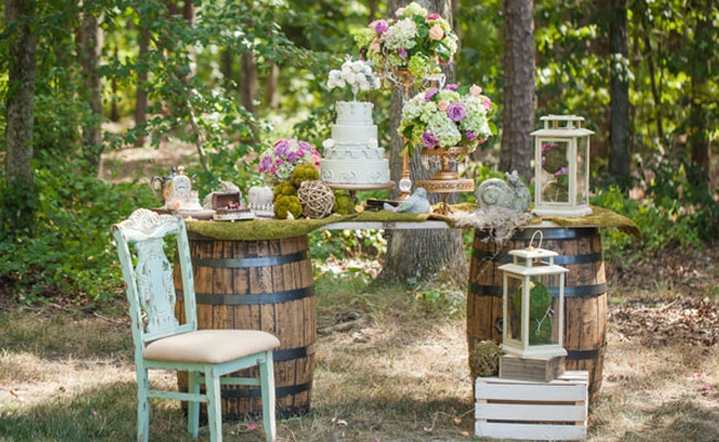 Enchanted Forest Bridal Photo Shoot Pretty My Party