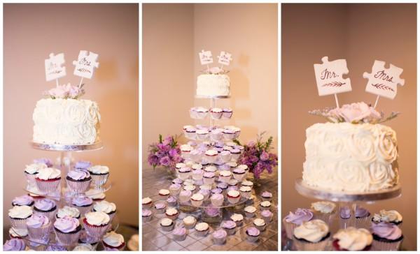 purple-wedding-puzzle-piece-cake