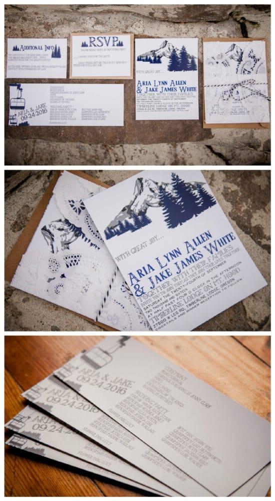Rustic Ski Lodge Wedding Styled Shoot