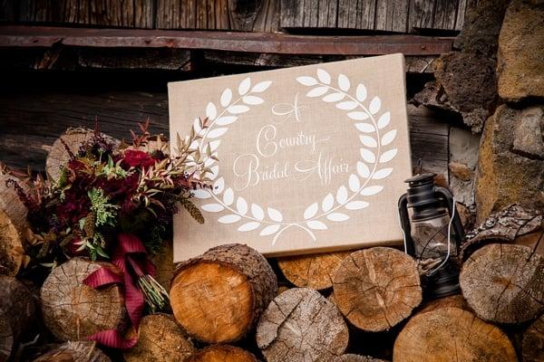 rustic-ski-lodge-wedding-sign