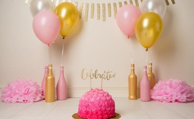 Thirtieth Birthday Cake Smash Pretty My Party