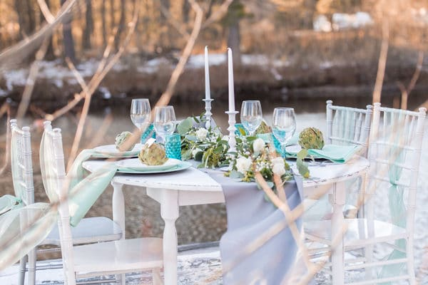 Turquoise and White Styled Shoot