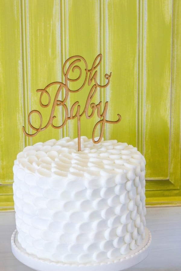 Floral Inspired Baby Shower Oh Baby Cake via Pretty My Party