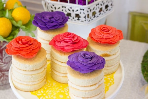 Floral Inspired Baby Shower Desserts via Pretty My Party