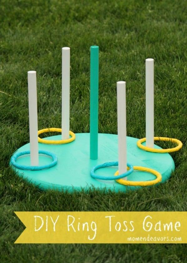 DIY Ring Toss Game, 25 Best Backyard Birthday Bash Games
