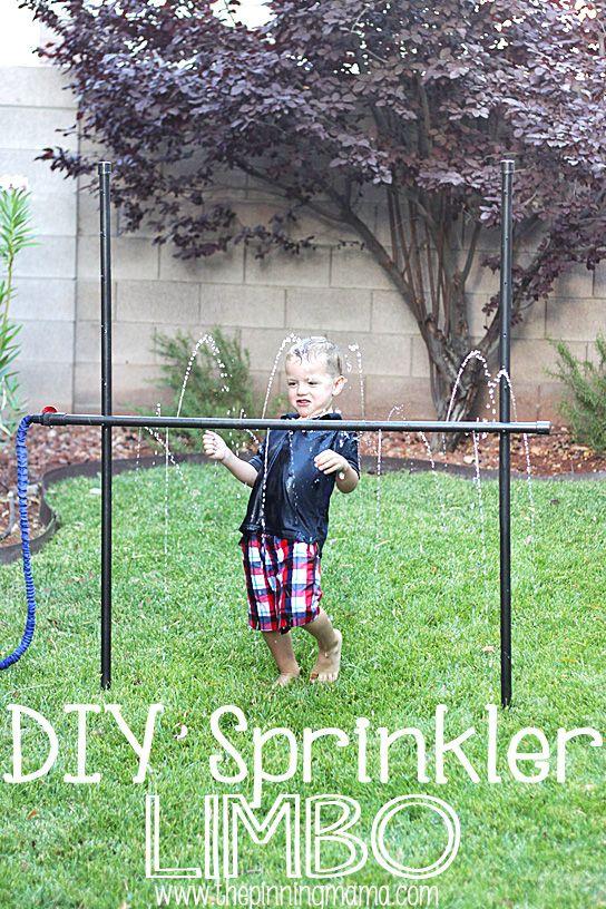 DIY Sprinkler Limbo - Yard Games For Kids
