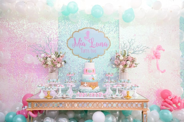 mermaid-birthday-party-dessert-table