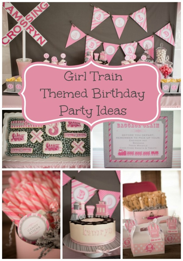 Girly Train Birthday Party Pretty My Party