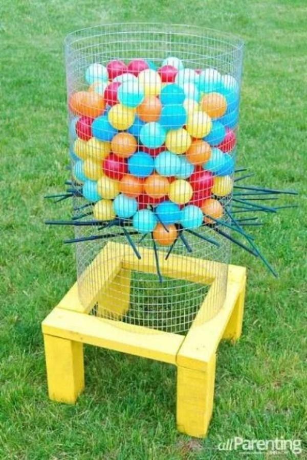 Jumbo Kerplunk Game, 25 Best Backyard Birthday Bash Games