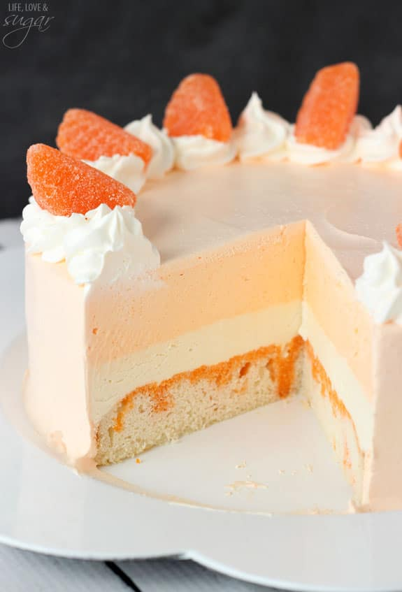 Orange Creamsicle Ice Cream Cake Recipe
