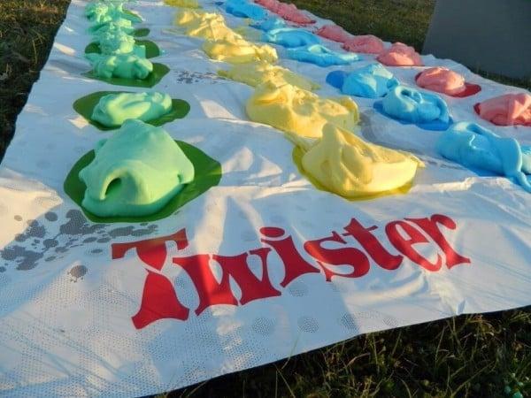 Shaving Cream Twister, 25 Best Backyard Birthday Bash Games