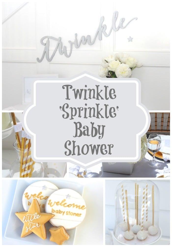 twinkle sprinkle baby shower via pretty my party