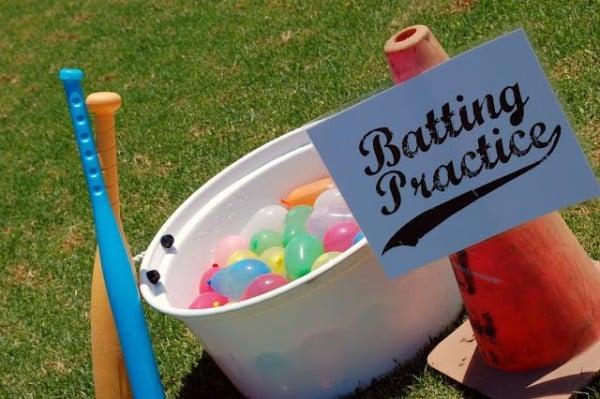 Water Balloon Batting Practice, Outdoor Games For Kids