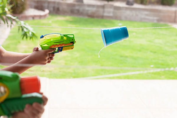 Water Gun Cup Races 25 Best Backyard Birthday Bash Games
