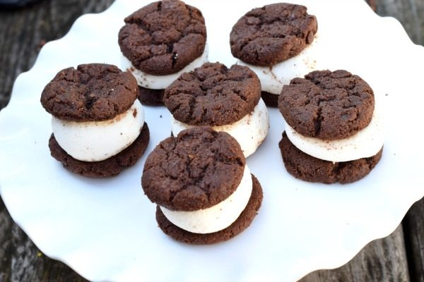Double Chocolate Marshmallow Cookie Sandwich