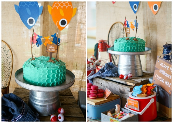 Baby shower cakes baby shower cupcake cake ideas boy - Adorable Boys Gone Fishing Party Pretty My Party