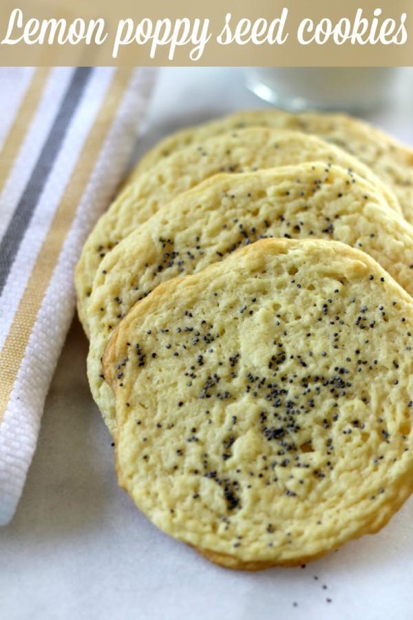 Lemon Poppy Seed Cookies - Pretty My Party