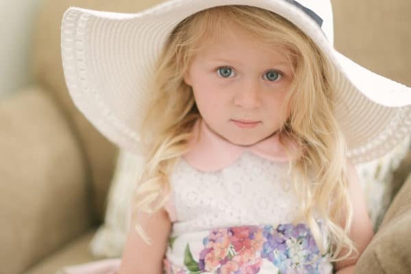 Cute dresses and fancy hats were seen throughout this little girl high
