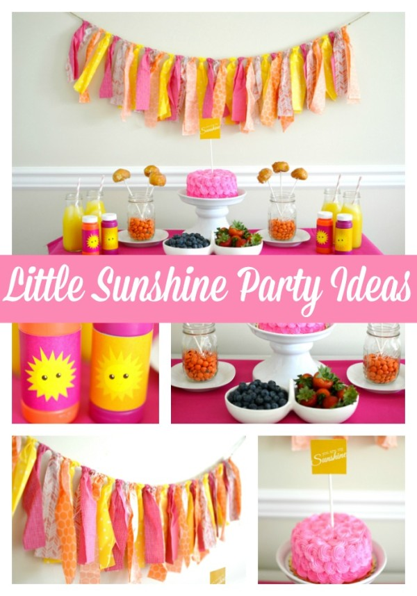 Girly Sunshine Party Theme Pretty My Party Party Ideas