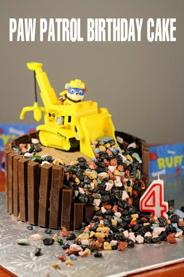 Awesome KitKat Paw Patrol Birthday Cake