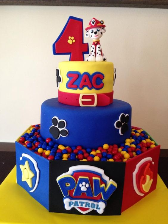 Images Of Paw Patrol Birthday Cake : Marshalls and Fondant on Pinterest
