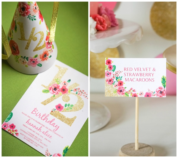 Pink and Gold Half Year Birthday Party - Pretty My Party