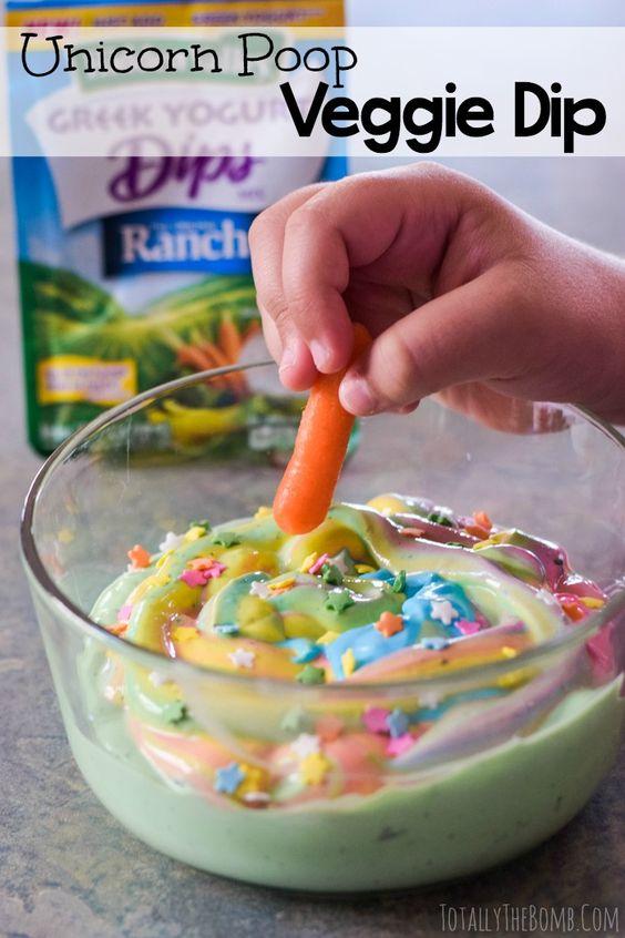 Unicorn Poop Dip Recipe - Unicorn Party Ideas