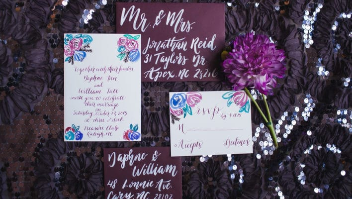 Dark Romantic Styled Wedding Shoot