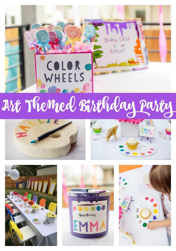 Kids Backyard Art Party Idea