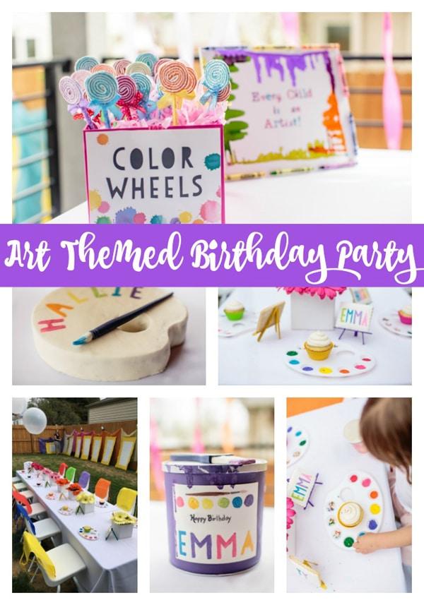 Kids Backyard Art Party Idea   Pretty My Party