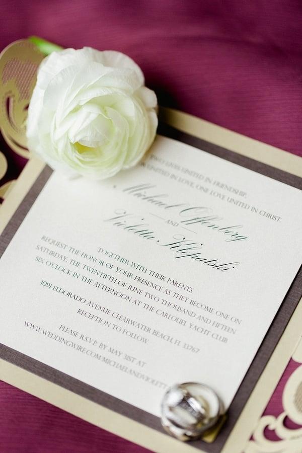 Burgundy Ivory Wedding | Pretty My Party
