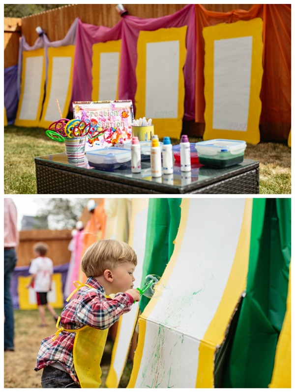 Kids Backyard Art Party Idea | Pretty My Party