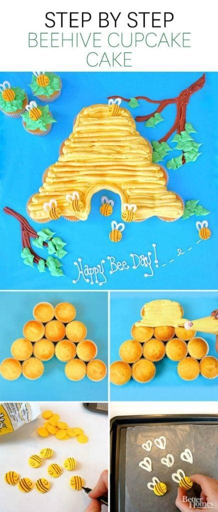 Bee Hive Cupcake Cake
