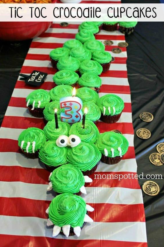 21 Pull Apart Cupcake Cake Ideas Crocodile | Pretty My Party