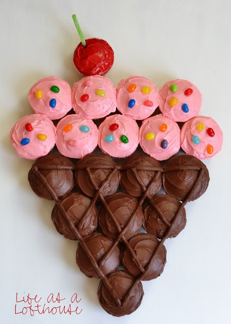Ice Cream Cone Cupcake Birthday Cake
