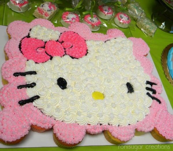 Hello Kitty Pull Apart Cupcake Cake