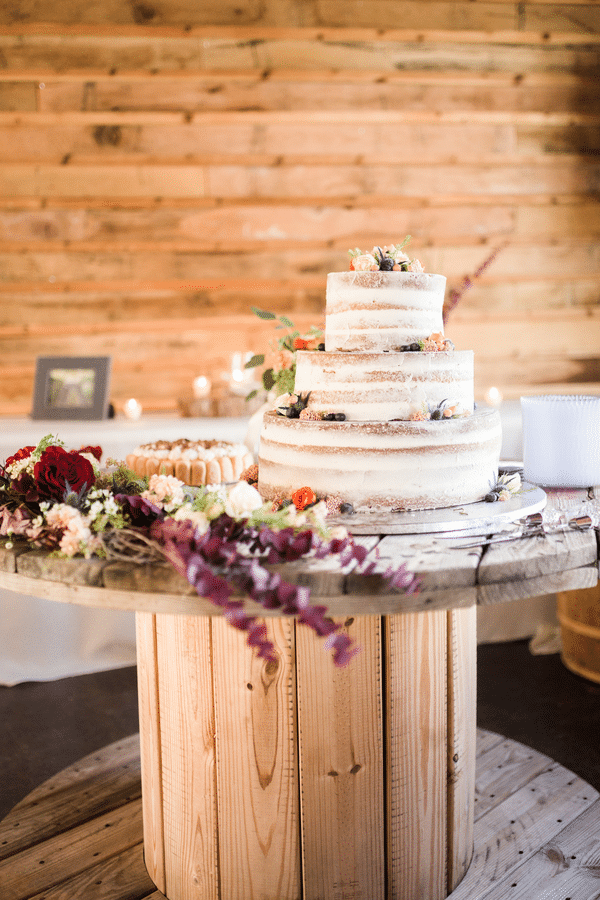 Southern Rustic Charm Wedding Theme naked cake| Pretty My Party