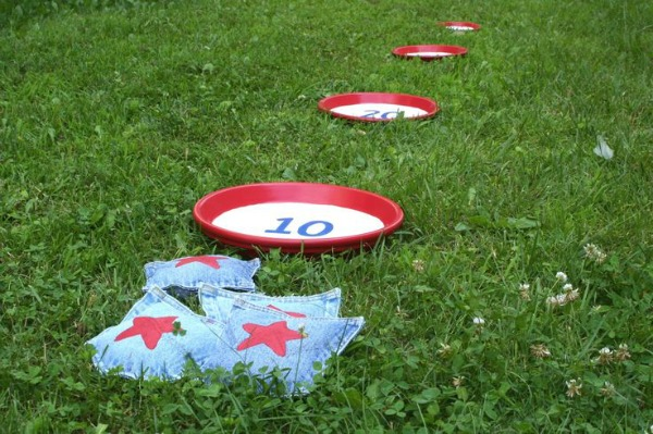 2 Bean Bag Toss Game, 20 Ideas for Celebrating 4th of July via Pretty My Party
