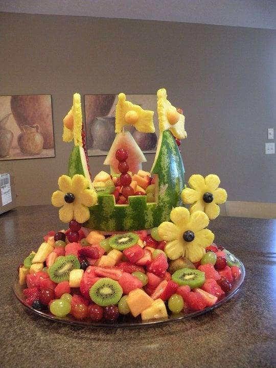 Princess Castle Watermelon Carving - Princess Party Ideas