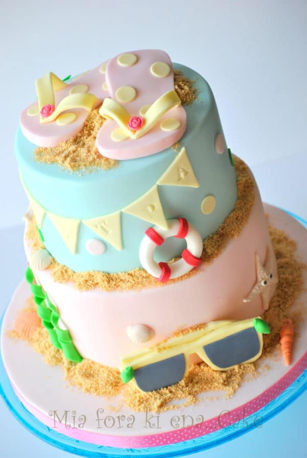 Cake Decorating Ideas Summer : 21 Sizzling Summer Birthday Cake Ideas - Pretty My Party