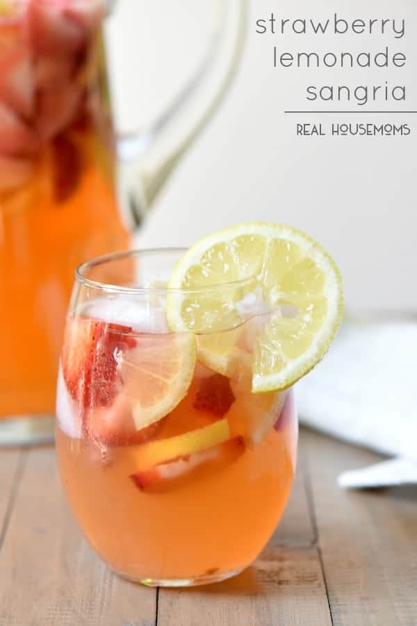 Strawberry Lemonade Sangria Recipe