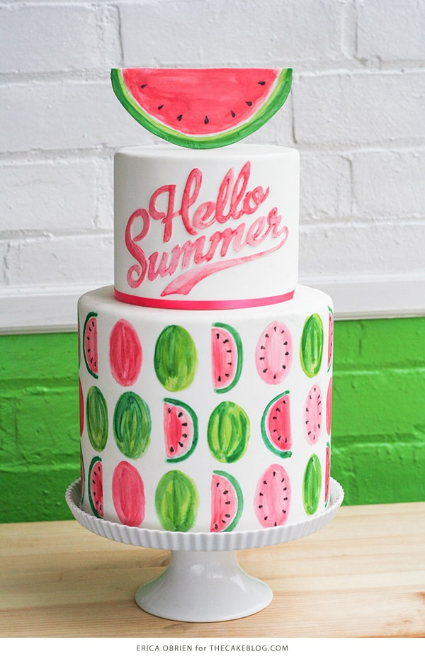 Watermelon Cake, 21 Sizzling Summer Birthday Cake Ideas | Pretty My Party