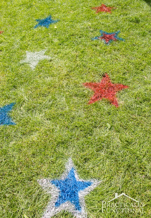 DIY Painted Lawn Stars for 4th of July