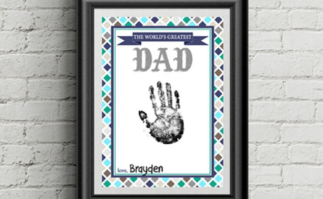 Free Father's Day Handprint Printable