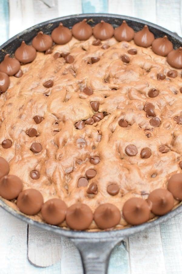 Hersheys Kisses Skillet Cookie Recipe   Pretty My Party
