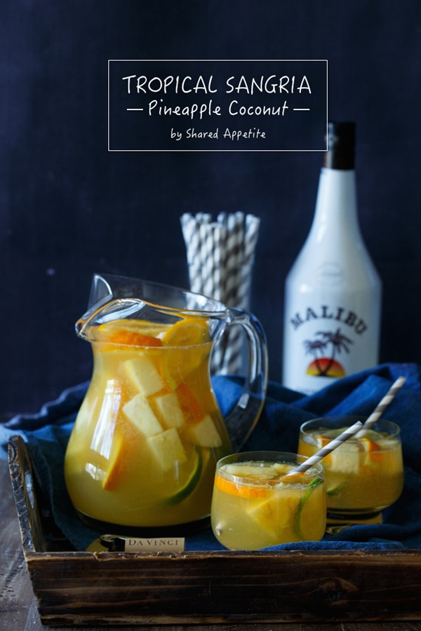 Tropical Pineapple Coconut Sangria Recipe