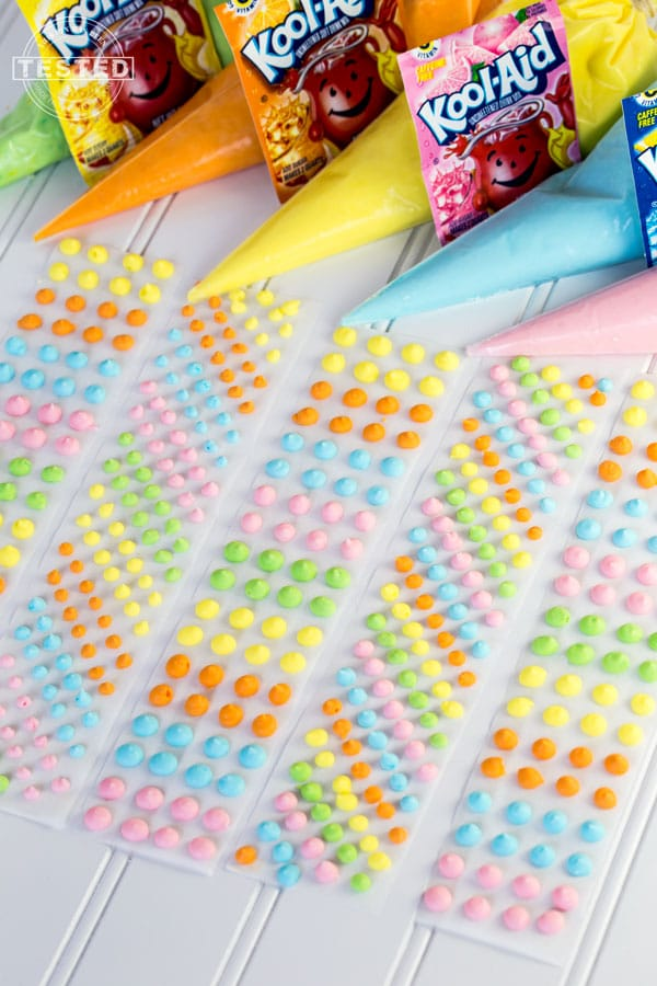 Kool Aid Candy Dot Favors | Budget Birthday Favors via Pretty My Party